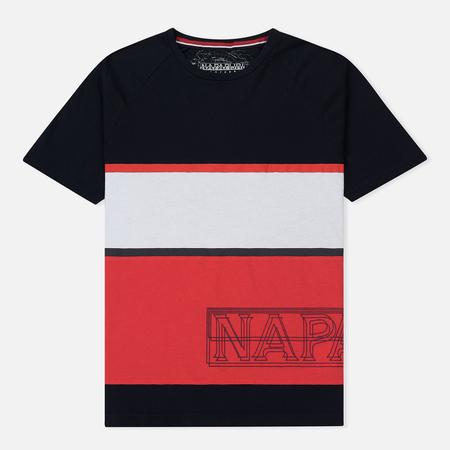 Мужская футболка Napapijri Safi Stripe Navy/Red/White
