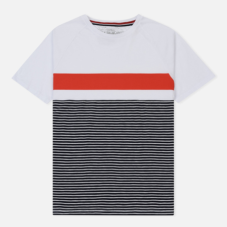 Мужская футболка Napapijri Safi Stripe White/Red/Navy