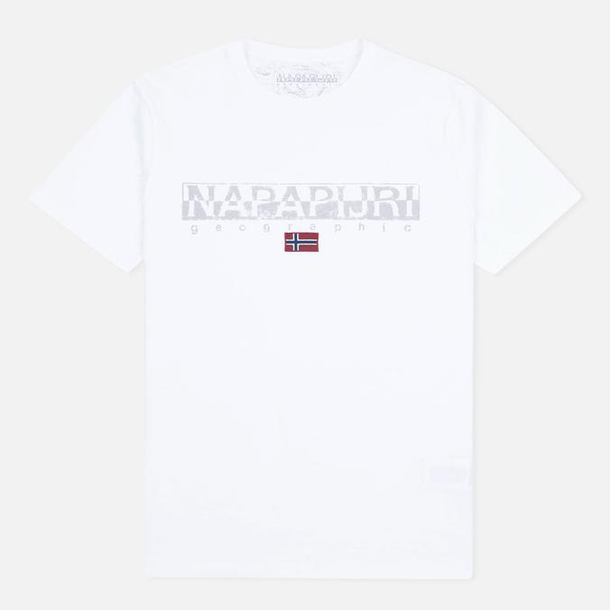 Мужская футболка Napapijri Sapriol Short A Bright White