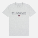 Napapijri Sapriol Short A Men's T-shirt Light Grey Mel photo- 0