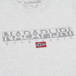 Мужская футболка Napapijri Sapriol Short A Light Grey Mel фото- 2