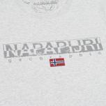 Napapijri Sapriol Short A Men's T-shirt Light Grey Mel photo- 2
