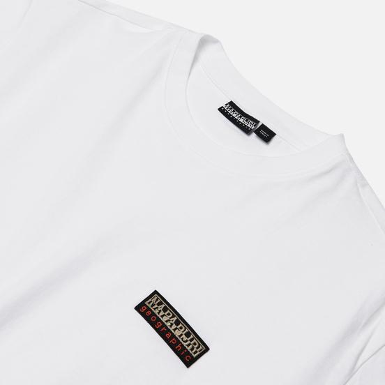 Мужская футболка Napapijri Sase 1 Bright White