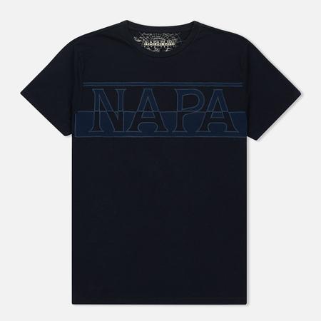 Мужская футболка Napapijri Saslong SS Blue Marine