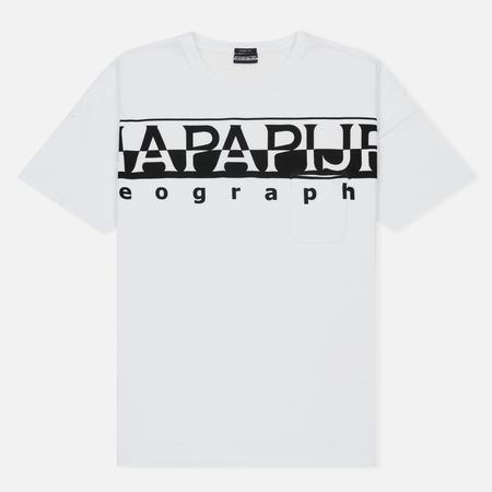 Мужская футболка Napapijri Saumur T1 Bright White