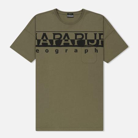 Мужская футболка Napapijri Saumur T1 Sage Green