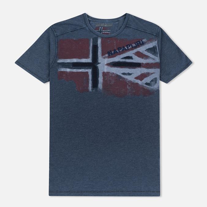 Мужская футболка Napapijri Sector Blue Marine