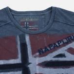 Мужская футболка Napapijri Sector Blue Marine фото- 1