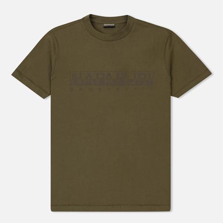 Мужская футболка Napapijri Sevora New Olive Green