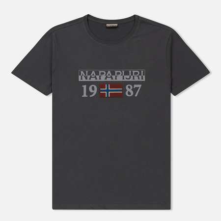 Мужская футболка Napapijri Solin SS 1 Dark Grey Solid
