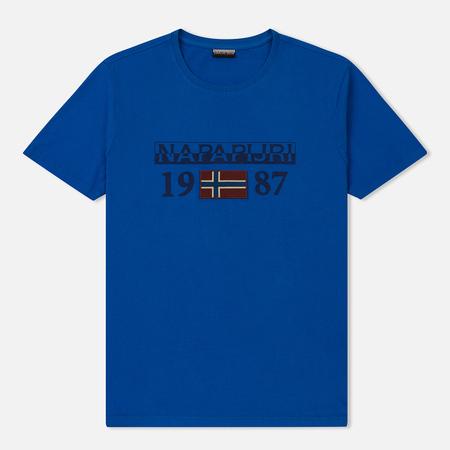 Мужская футболка Napapijri Solin SS 1 Plastic Blue