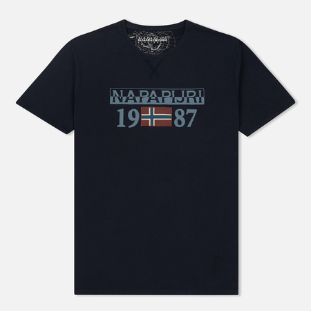 Мужская футболка Napapijri Solin SS Blue Marine