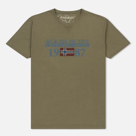 Мужская футболка Napapijri Solin SS Sage Green