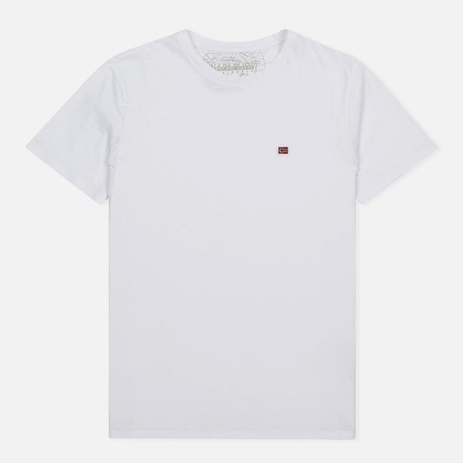 Мужская футболка Napapijri Sombre Crew Bright White