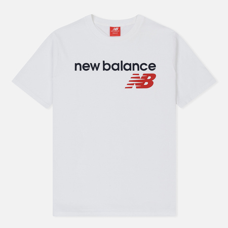 Мужская футболка New Balance Athletics Main Logo White