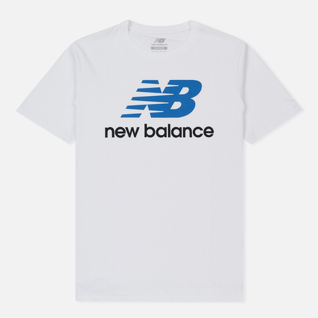Мужская футболка New Balance Essentials Stacked Logo White Multi