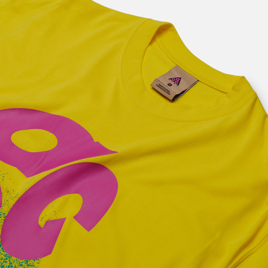 Мужская футболка Nike ACG NRG Logo Evo Opti Yellow/Active Fuchsia