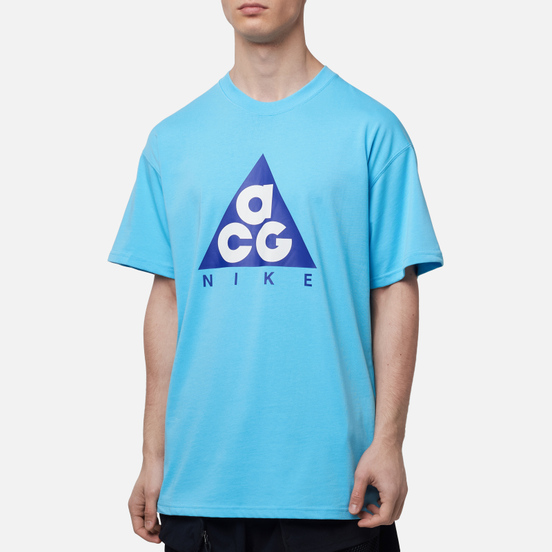 Мужская футболка Nike ACG NRG Logo Giant Blue Gale/Fusion Violet