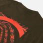 Мужская футболка Nike ACG NRG Splattered Cargo Khaki/Active Fuchsia фото - 2