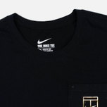 Мужская футболка Nike Court Wimb Pocket Black фото- 1
