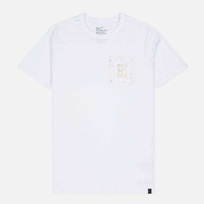 Мужская футболка Nike Court Wimb Pocket White