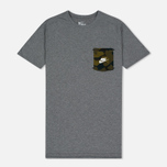Мужская футболка Nike Drop Hem Pocket Dark Grey фото- 0