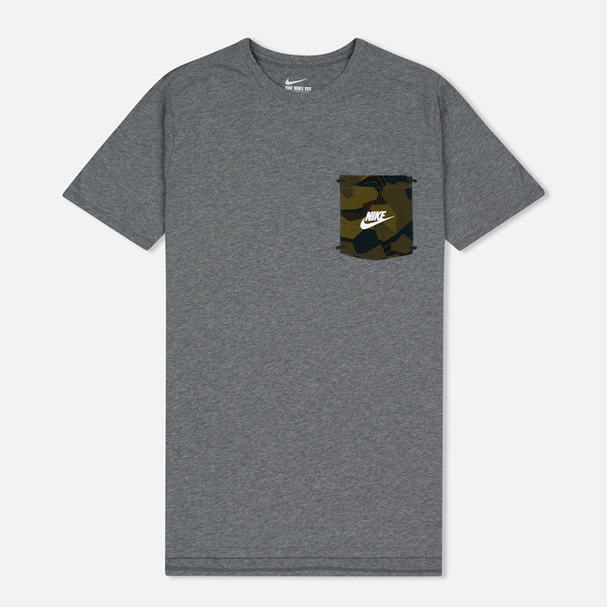 Мужская футболка Nike Drop Hem Pocket Dark Grey