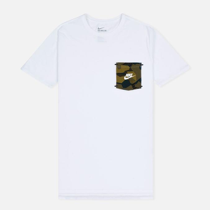 Мужская футболка Nike Drop Hem Pocket White