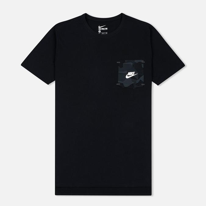 Мужская футболка Nike Drop Hem Pocket Black