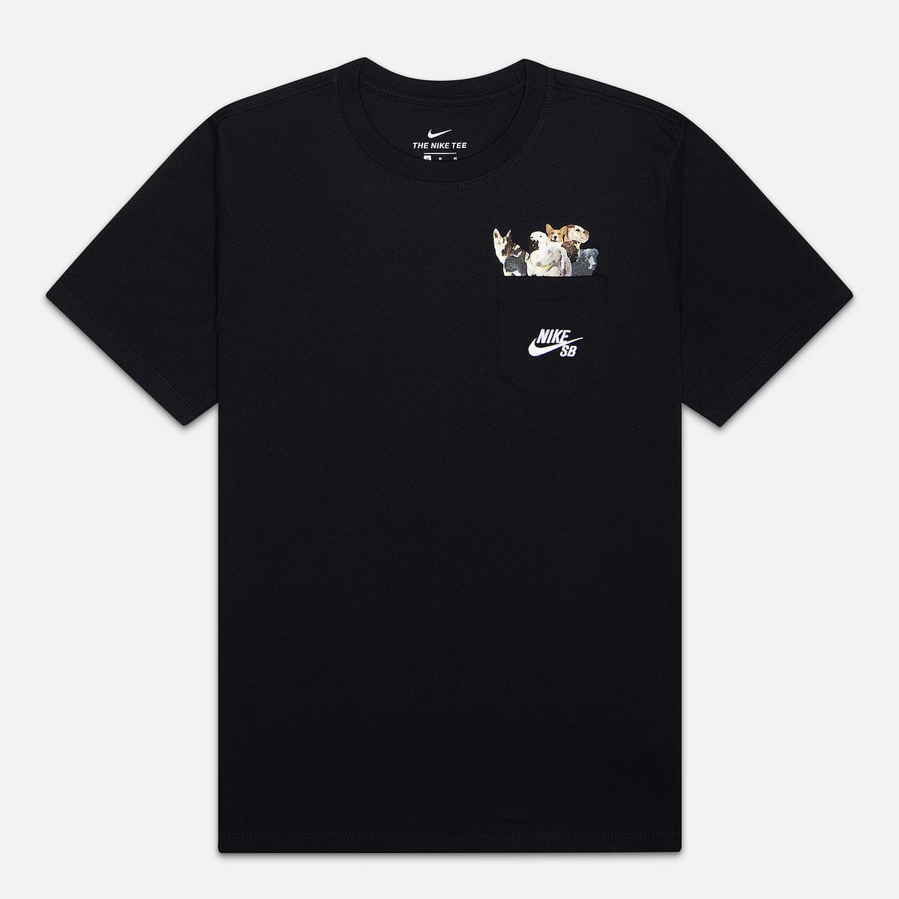 Мужская футболка Nike SB Dog Black/White