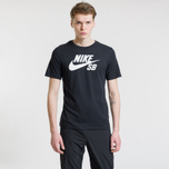 Мужская футболка Nike SB Dri-Fit Logo Black/White фото- 1