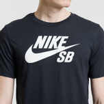 Мужская футболка Nike SB Dri-Fit Logo Black/White фото- 4