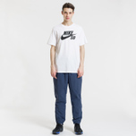 Мужская футболка Nike SB Dri-Fit Logo White/Black фото- 1
