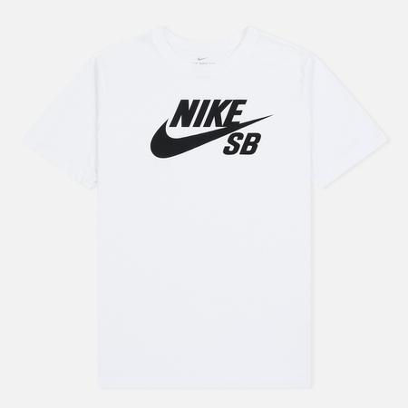 Мужская футболка Nike SB Dri-Fit Logo White/Black