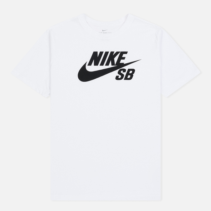 Мужская футболка Nike SB Dri-Fit Logo White/Black