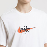 Мужская футболка Nike SB Futura White/Safety Orange фото- 2