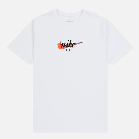 Мужская футболка Nike SB Futura White/Safety Orange