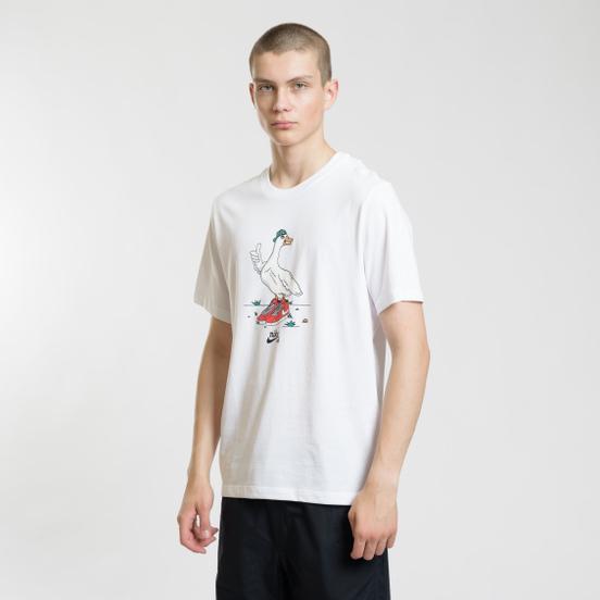 Мужская футболка Nike SB Goose White