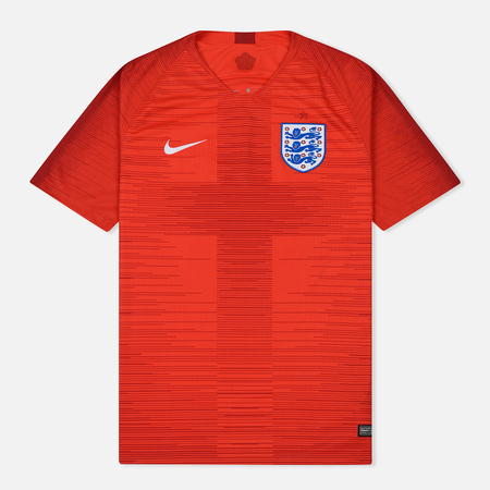 Мужская футболка Nike Soccer Jersey 2018 England Stadium Away Challenge Red/Gym Red/White