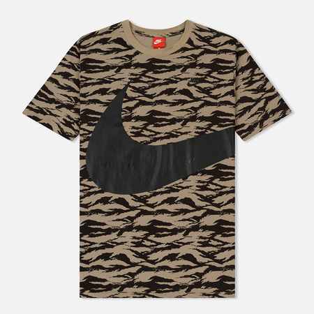 Мужская футболка Nike Swoosh All Over Print Khaki/Black