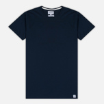 Мужская футболка Norse Projects Esben Blind Stitch SS Navy фото- 0