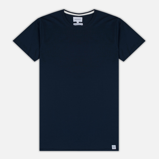 Мужская футболка Norse Projects Esben Blind Stitch SS Navy