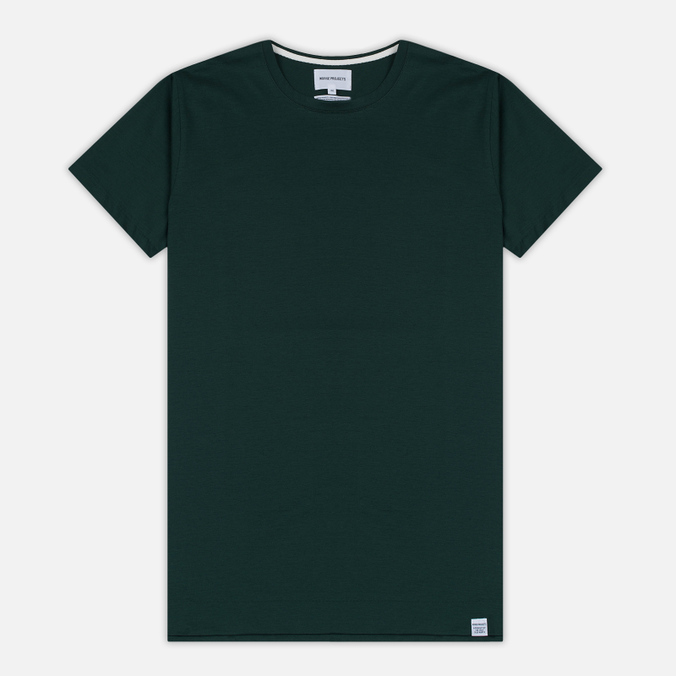 Мужская футболка Norse Projects Esben Blind Stitch SS Verge Green