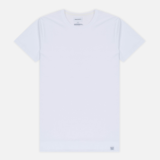 Мужская футболка Norse Projects Esben Blind Stitch SS White