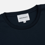 Мужская футболка Norse Projects Esben Mercerized Navy фото- 1