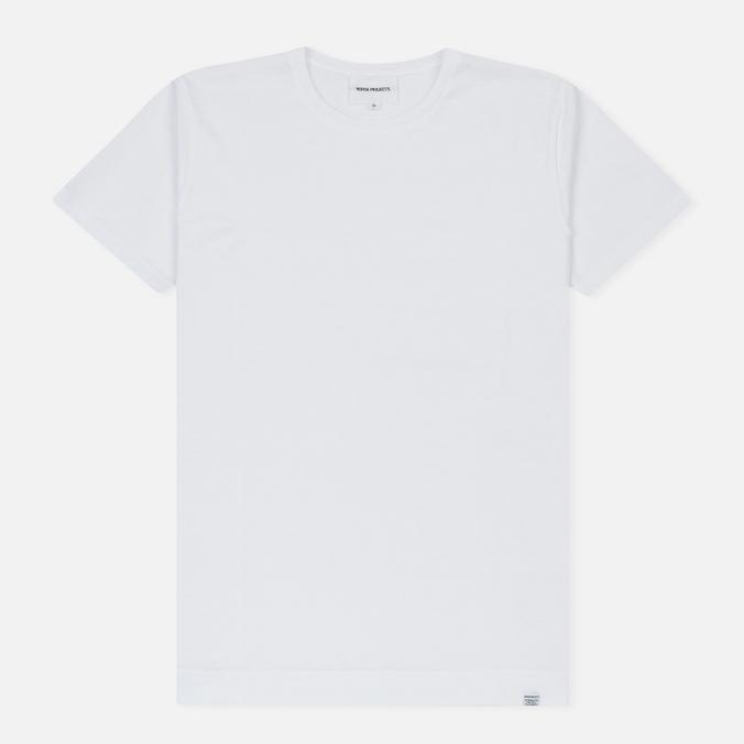Мужская футболка Norse Projects Esben Mercerized White