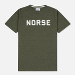 Мужская футболка Norse Projects James Mouline Dryed Olive фото- 0