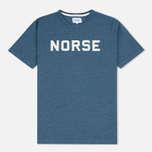 Мужская футболка Norse Projects James Mouline Navy фото- 0