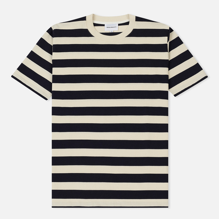 Мужская футболка Norse Projects James Rugby Stripe Navy