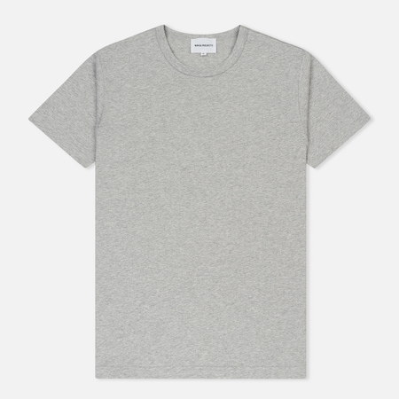 Мужская футболка Norse Projects Jesper Crew Light Grey Melange